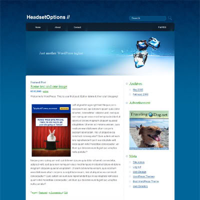 New WordPress Theme Deep Blue