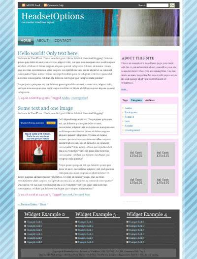 New WordPress Theme Glass