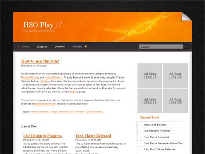 New WordPress Theme PonitSpace Orange